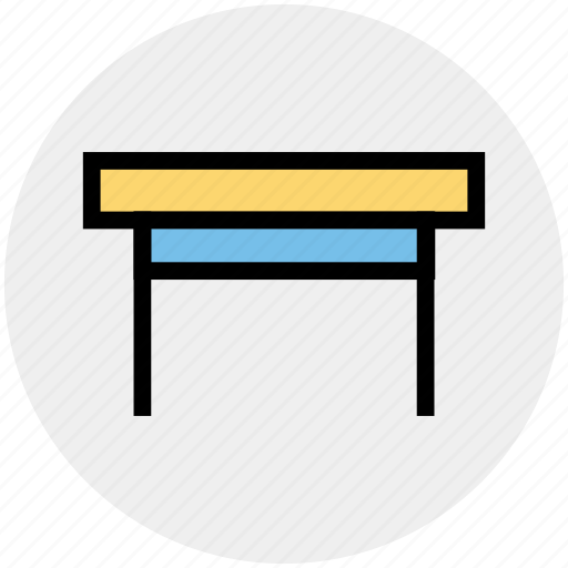 desk, furniture, office, office desk, office table, studio table, table icon