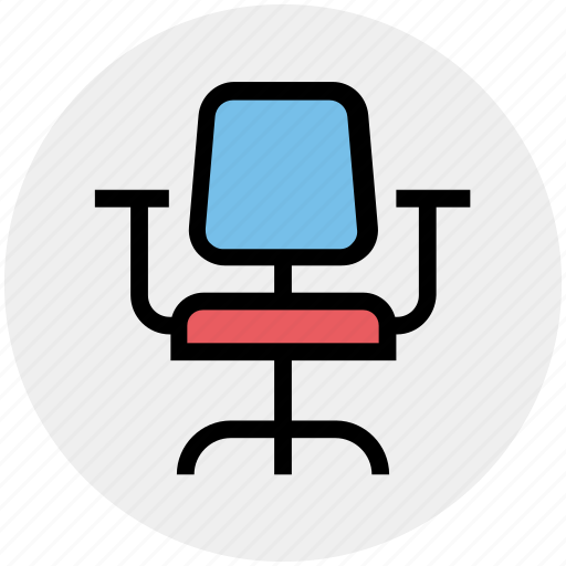 armchair, chair, desk, furniture, kitchen, seat, stool icon