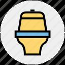 bathroom, bowl, drain to floor, house, pen, toilet icon