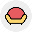 couch, divan, furniture, interior, living room, lounge, sofa icon