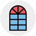 apartment window, furniture, home window, office window, window frame icon