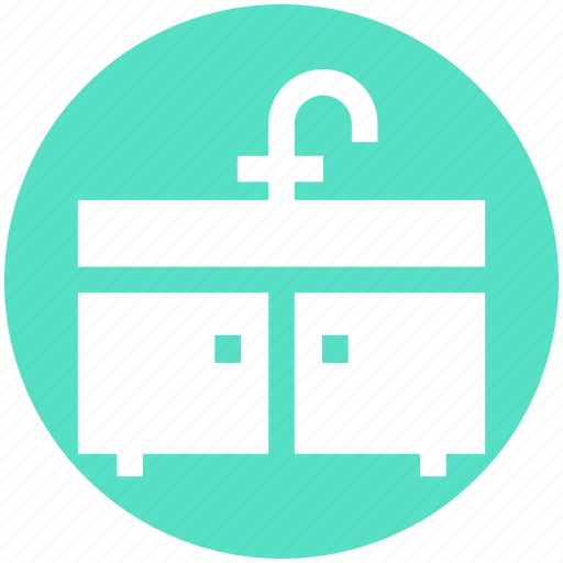 bathroom, bathroom interior, cabinet, furnished, interior, sink, washbasin icon