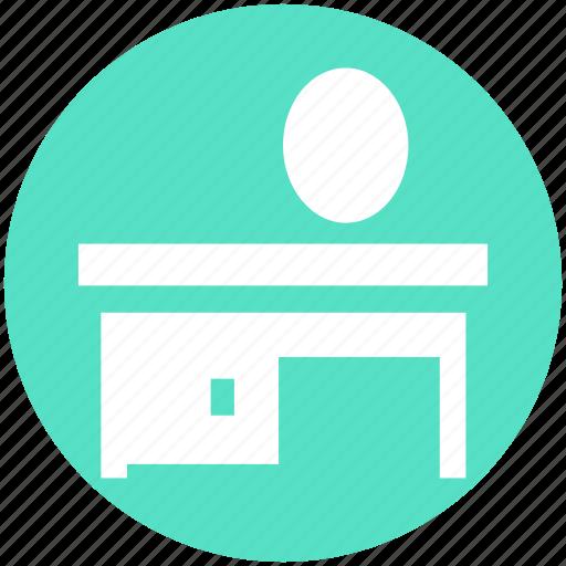 bathroom, cabinet, doors, drawers, furniture, mirror, sink icon