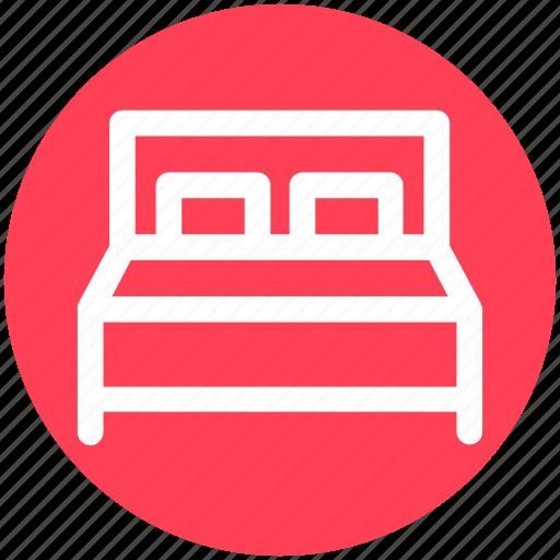 bed, bedroom, bedroom furniture, double bed, furniture, sleeping icon