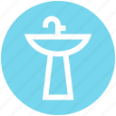 appliance, bathroom, faucet, interior, sink, washbasin, washstand icon