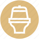 bathroom, bowl, drain to floor, house, pen, toilet icon