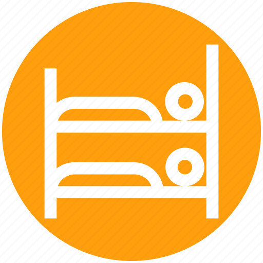 bed, building, double, furniture, holiday, interior, summer icon