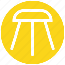 bar, decor, furnishing, furniture, house, kitchen, stool icon