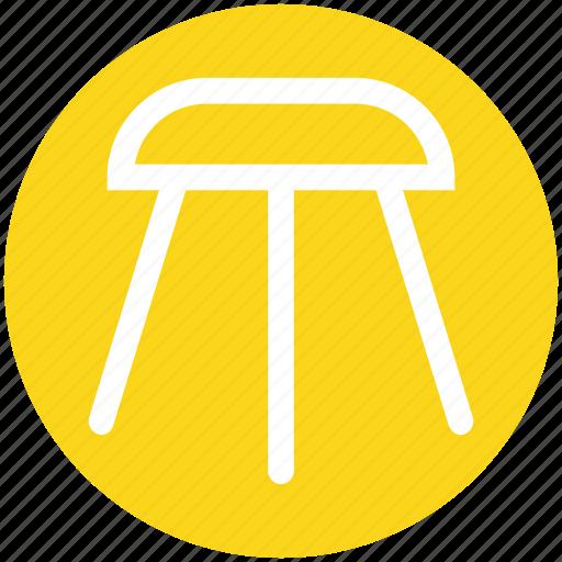 bar, decor, furnishing, furniture, house, kitchen, stool icon
