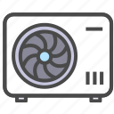 air conditioning, electric appliance, home appliance icon