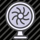 electric appliance, fan, home appliance, wind icon