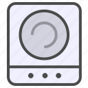 electric appliance, home appliance, induction cooker icon