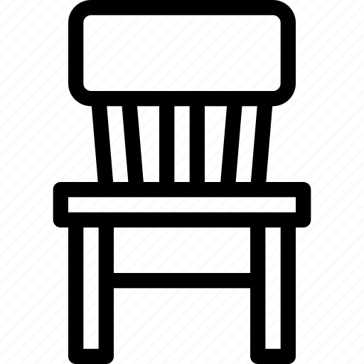 chair, furniture, office, seat, table icon