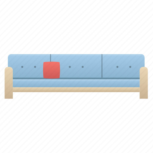 couch, furniture, pillow, sofa icon
