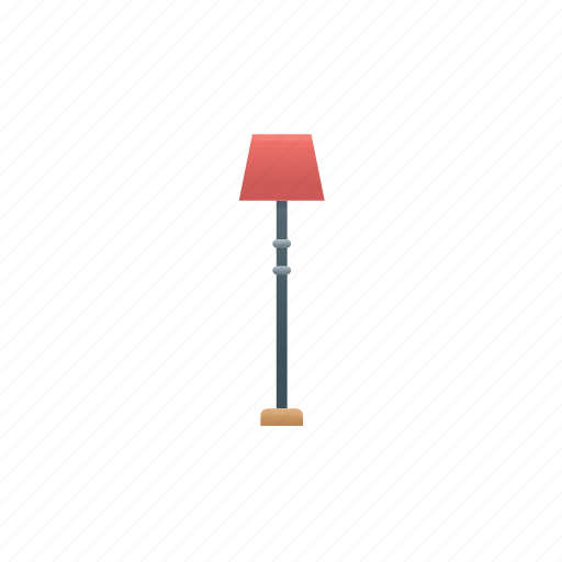 furniture, lamp, light, stand icon