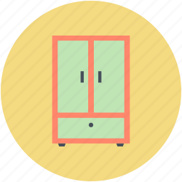 cabinet, closet, cupboard, storage drawers, wardrobe icon