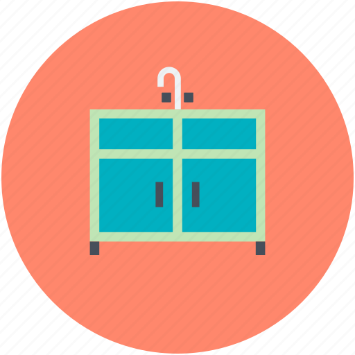 bathroom cabinet, bathroom vanity, wash basin, wash basin cabinet icon