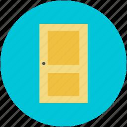 bedroom door, closed door, door, doorway, entrance icon