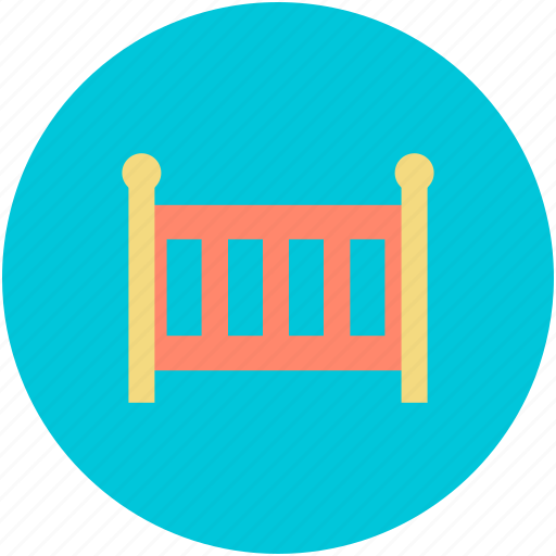 baby bed, baby bedroom furniture, baby furniture, cradle, crib icon