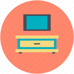 furniture, home interior, monitor, tv stand, tv trolley icon