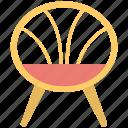 bowl chair, chair, furniture, outdoor furniture, terrace chair icon