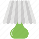 bedroom lamp, bedside lamp, desk lamp, table lamp, table light icon
