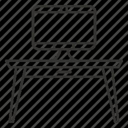 desk, desktop, furniture, imac, table, work icon