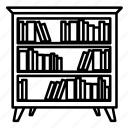 bookcase, books, furniture, home, household, interior, shelves