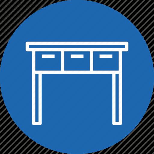 books, drawer, furnishing, furniture, household, imitation, table icon