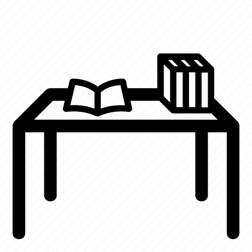 book, education, furniture, home, library, school, table icon