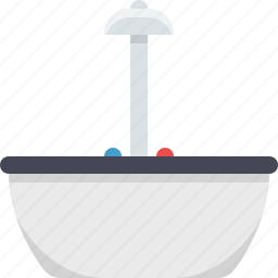 bath, bath tub, bathroom, hot tub, kitchen, tub icon