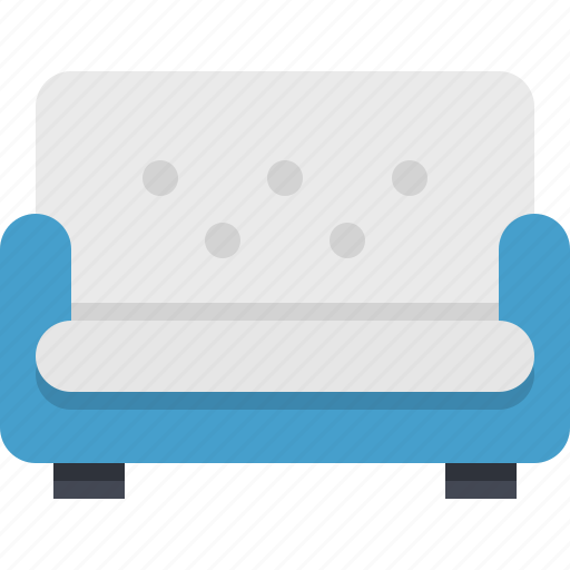 comfortable, furniture, interior, living room, resting, sitting, sofa icon