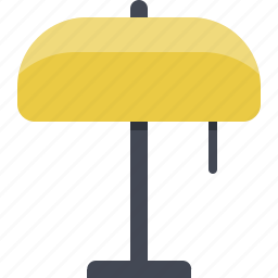 electricity, energy, interior, lamp, lighting, lightning, table lamp icon
