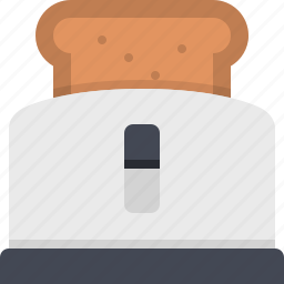 appliance, bread, cooking, eating, food, kitchen, toaster icon