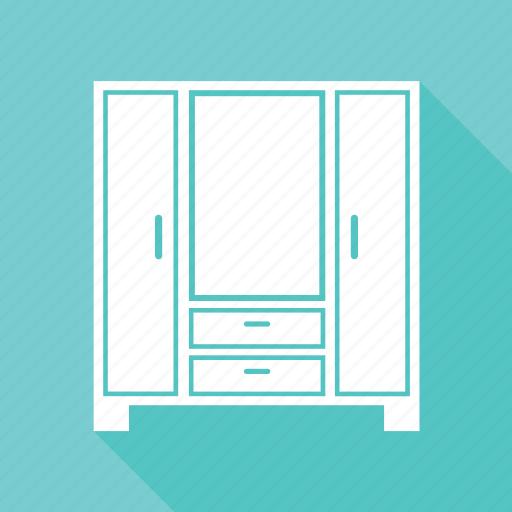 almirah, furniture, wardrobe icon
