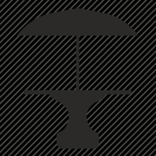 furniture, interior, table, umbrella icon