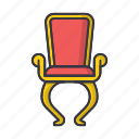 chair, furniture, interior, old, retro, seat, vintage icon