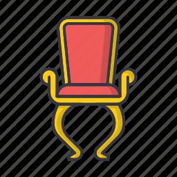 chair, furniture, interior, old, retro, seat, vintage icon