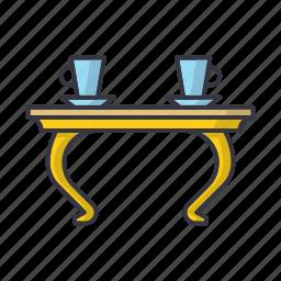 coffee, comfort, furniture, home, mug, mugs, table icon