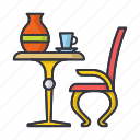 coffee, comfort, furniture, home, mug, pitcher, table icon