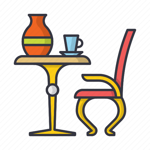 coffee, comfort, furniture, home, mug, pitcher, table icon