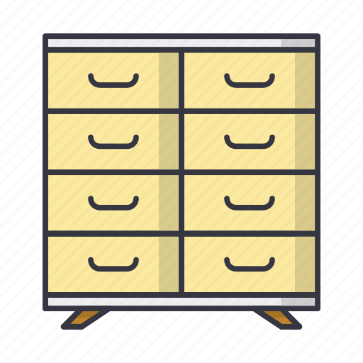 chest, commode, drawer, furniture icon