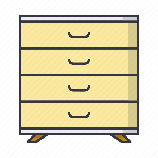 chest, commode, drawer, dresser, furniture icon