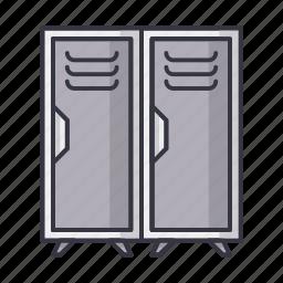 cupboard, dresser, furniture, locker, school icon