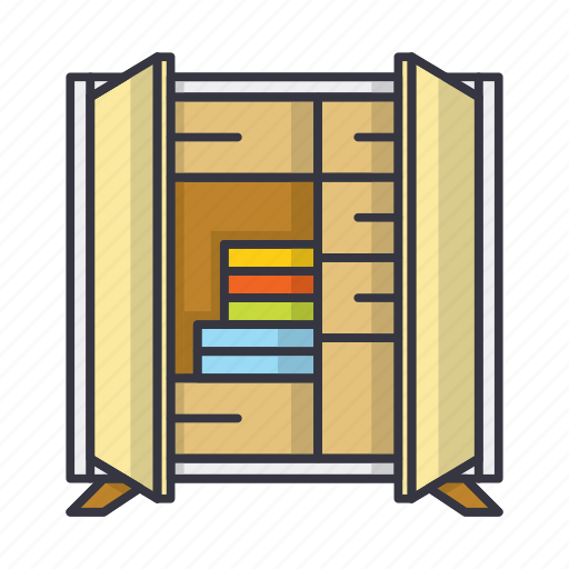 Books, cupboard, dresser, furniture, shelf icon - Download on Iconfinder