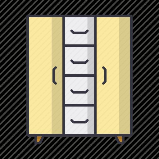 chest, cupboard, furniture, shelf icon