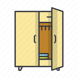 cupboard, dresser, furniture, shelf icon