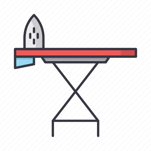 board, clean, home, ironing icon