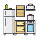 cook, cooking, food, fridge, home, kitchen icon