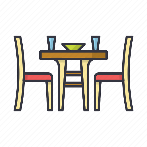 chair, desk, dinner, furniture, kitchen, table icon